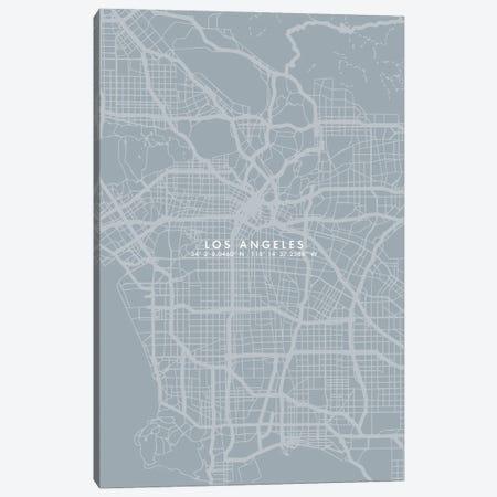 Los Angeles City Map Simple Color Canvas Print #WDA218} by WallDecorAddict Canvas Artwork