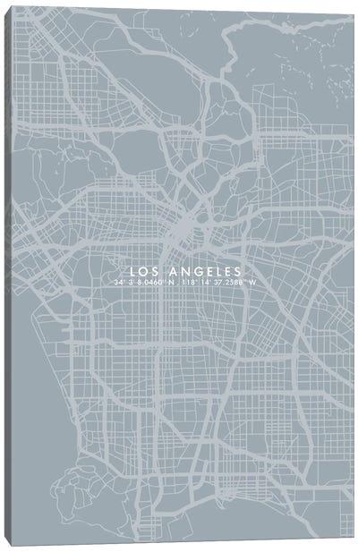 Los Angeles City Map Simple Color Canvas Art Print
