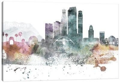 Los Angeles Pastel Skylines Canvas Art Print