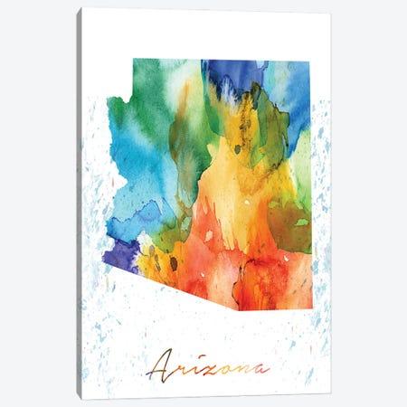 Arizona State Colorful Canvas Print #WDA21} by WallDecorAddict Canvas Print