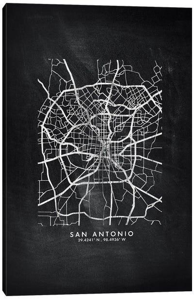 San Antonio City Map Chalkboard Style Canvas Art Print
