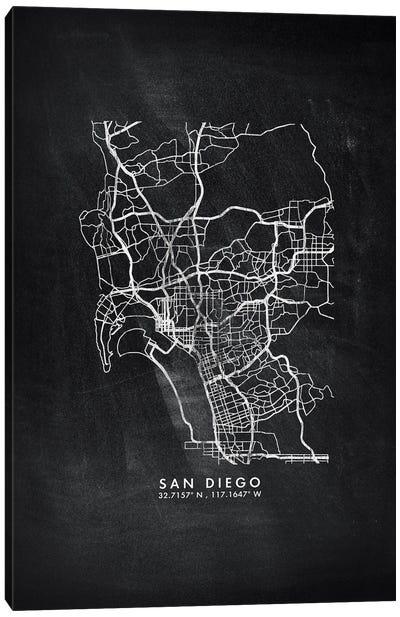 San Diego City Map Chalkboard Style Canvas Art Print