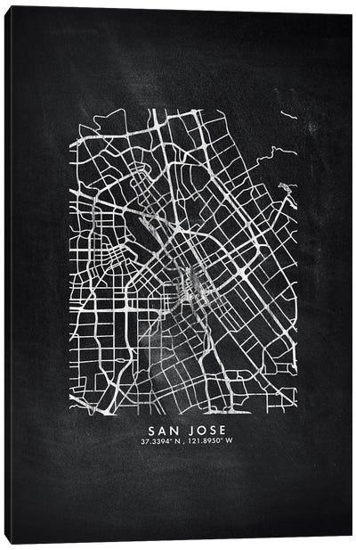 San Jose City Map Chalkboard Style Canvas Art Print