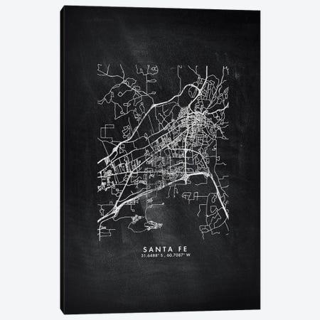 Santa Fe, Argentina City Map Chalkboard Style Canvas Print #WDA2206} by WallDecorAddict Canvas Art Print