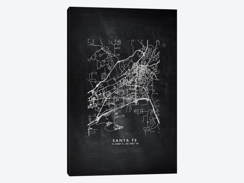 Santa Fe, Argentina City Map Chalkboard Style by WallDecorAddict 1-piece Canvas Print