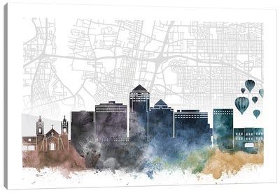 Albuquerque Skyline City Map Canvas Art Print