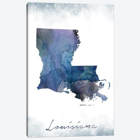 Louisiana State Bluish Canvas Print #WDA222} by WallDecorAddict Canvas Print