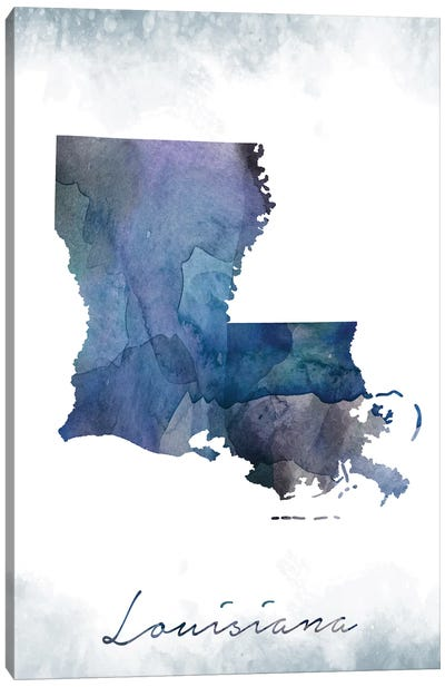 Louisiana State Bluish Canvas Art Print