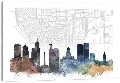 Buffalo Skyline City Map Canvas Art Print