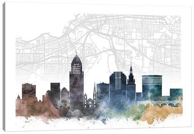Cleveland Skyline City Map Canvas Art Print