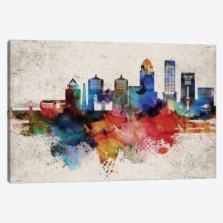 Louisville Abstract Canvas Print #WDA225} by WallDecorAddict Canvas Wall Art