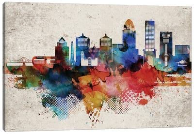 Louisville Abstract Canvas Art Print