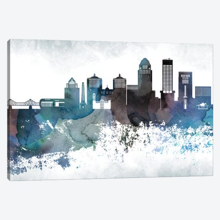 Louisville Bluish Skylines 3-Piece Canvas #WDA226} by WallDecorAddict Canvas Art