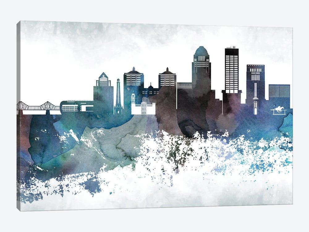 Louisville Bluish Skylines by WallDecorAddict 1-piece Canvas Wall Art