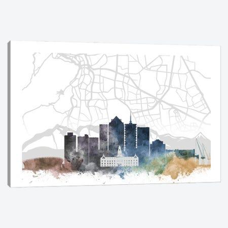 Cape Town Skyline City Map Canvas Print #WDA2273} by WallDecorAddict Art Print