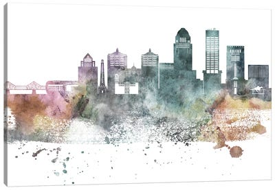 Louisville Pastel Skylines Canvas Art Print