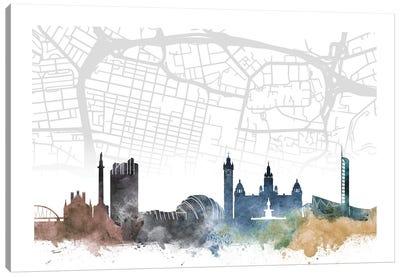 Glasgow Skyline City Map Canvas Art Print