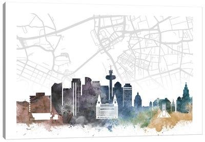 Liverpool Skyline City Map Canvas Art Print
