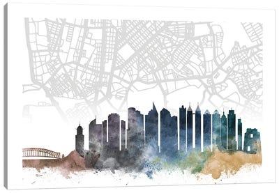 Manila Skyline City Map Canvas Art Print