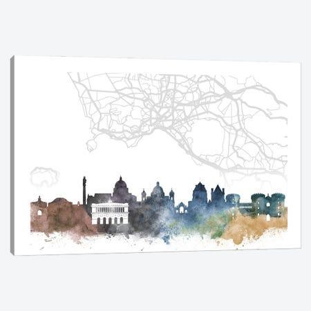 Naples Skyline City Map Canvas Print #WDA2299} by WallDecorAddict Canvas Art Print