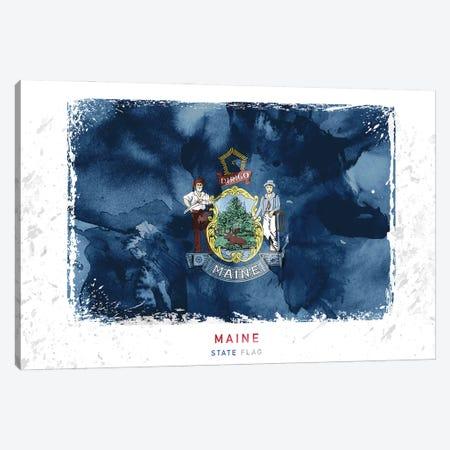 Maine Canvas Print #WDA229} by WallDecorAddict Art Print
