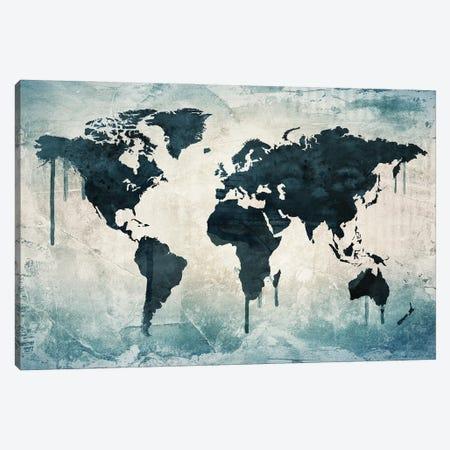 World Map Wall Decor Canvas Print #WDA2321} by WallDecorAddict Canvas Art Print