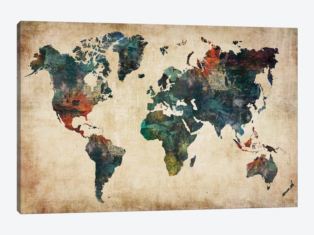 World Map Wall Decor Style by WallDecorAddict 1-piece Art Print