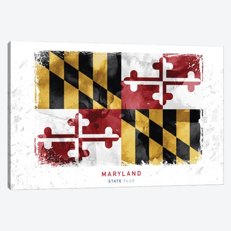 Maryland Canvas Print #WDA234} by WallDecorAddict Art Print