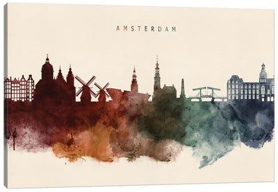 Amsterdam Skyline Desert Style Canvas Art Print