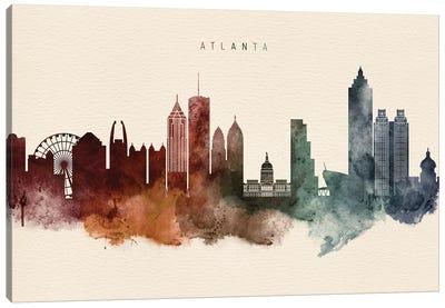Atlanta Skyline Desert Style Canvas Art Print