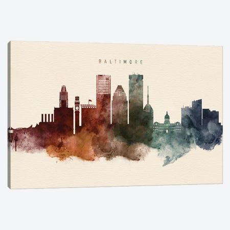 Baltimore Skyline Desert Style Canvas Print #WDA2359} by WallDecorAddict Canvas Artwork