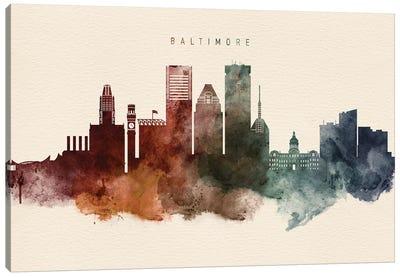 Baltimore Skyline Desert Style Canvas Art Print