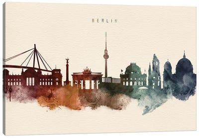 Berlin Skyline Desert Style Canvas Art Print