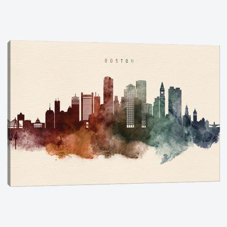 Boston Skyline Desert Style Canvas Print #WDA2364} by WallDecorAddict Canvas Wall Art