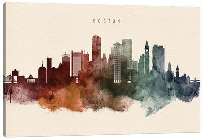 Boston Skyline Desert Style Canvas Art Print