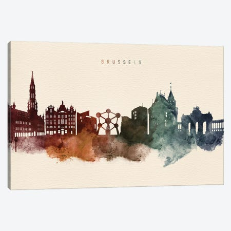 Brussels Skyline Desert Style Canvas Print #WDA2365} by WallDecorAddict Canvas Artwork