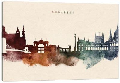 Budapest Skyline Desert Style Canvas Art Print
