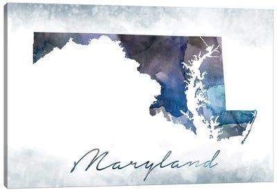 Maryland State Bluish Canvas Art Print