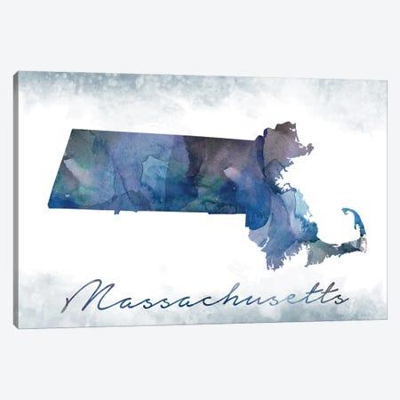 Massachusetts State Bluish Canvas Print #WDA241} by WallDecorAddict Art Print