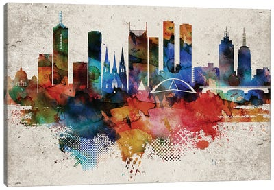 Melbourne Abstract Canvas Art Print