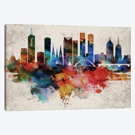 Melbourne Abstract Canvas Print #WDA244} by WallDecorAddict Canvas Artwork