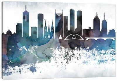 Melbourne Bluish Skylines Canvas Art Print