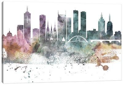 Melbourne Pastel Skylines Canvas Art Print