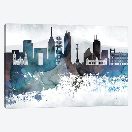 Mexico Bluish Skylines Canvas Print #WDA248} by WallDecorAddict Canvas Art Print