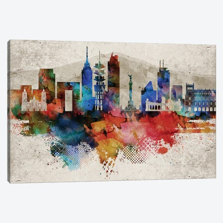 Mexico City Abstract Canvas Print #WDA249} by WallDecorAddict Art Print