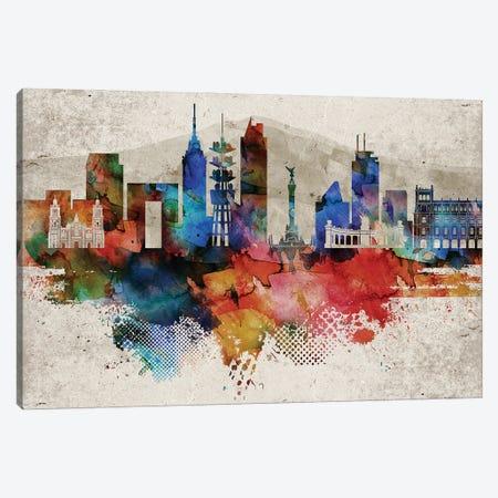 Mexico City Abstract Canvas Print #WDA249} by WallDecorAddict Art Print