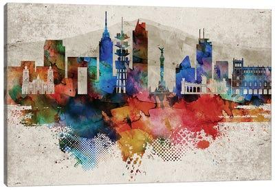 Mexico City Abstract Canvas Art Print