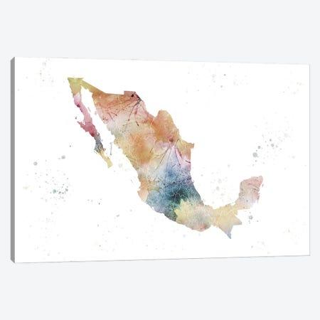 Mexico Nature Watercolor Canvas Print #WDA252} by WallDecorAddict Canvas Art