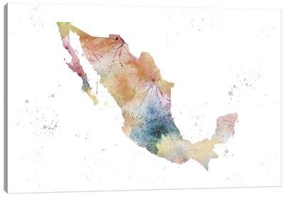 Mexico Nature Watercolor Canvas Art Print