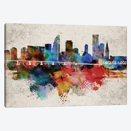 Miami Abstract Canvas Print #WDA253} by WallDecorAddict Canvas Wall Art